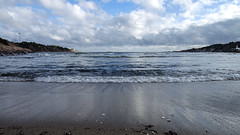 Strand, Fevik (Birgit F) Tags: ocean blue sea beach norway strand march waves austagder 2013 fevik