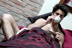 Mario (<NERVO> Luca) Tags: guy naked nude bed model muscle uomo espresso caff letto hombre ragazzo me2youphotographylevel1