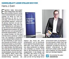 Handelsblatt-Leser Vorstellung Hans J. Even (TWT Interactive) Tags: j hans even twt handelsblatt