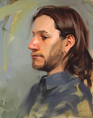 Zeno (RobReyArt) Tags: boy portrait painterly man guy art painting skin head study oil robrey
