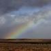 Marokko , unterwegs im Mittleren Atlas, Landschaft mit Regenbogen , 6-86