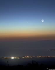 PanStarrs_Crescent Moon (Robmski) Tags: moon crescent panstarrs