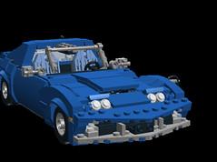 Corvette C3 headlights 1 (LegoNoitAllMocs) Tags: model lego replica corvette c3 moc
