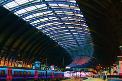 York Station Early Morning #dailyshoot # York (Leshaines123) Tags: york roof colour station les contrast photoshop canon eos google flickr haines trains blogger explore 365 facebook eon twitter dailyshoot tumblr pinterest me2youphotographylevel1 leshaines