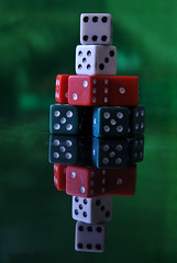 Just dice it! (Tony Dias 7) Tags: red white dice macro reflection green closeup square colours round