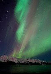 Aurora Borealis, Seward 3 (uzumewinter) Tags: longexposure nightphotography light alaska aurora seward northernlights auroraborealis resurrectionbay lowellpoint nikond90 flickrchallengegroup