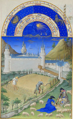 July (petrus.agricola) Tags: les de berry medieval muse illuminated chateau manuscript trs duc chantilly frres riches heures cond limbourg