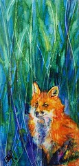 Foxy (Christy Freeman - artist) Tags: horse dog cat breed petportrait custompainting oilportrait watercolorartist petart