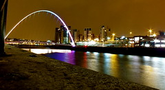 Quayside 25/03/13 (Matt Wood 1991) Tags: bridge eye river newcastle lights colours bright millenium baltic sage tyne quayside