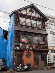 三階建て [explored] (kasa51) Tags: building japan bar digital olympus omd onomichi f4056 em5 ブルーシート 918mm mzuiko