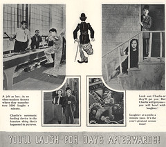 Page 27 d'un dossier de presse anglais (Charlie Chaplin: du muet au parlant) Tags: en film 1936 archive charlot moderntimes usine cinma charliechaplin bfi paulettegoddard pressbook tempsmodernes filmmuet dossierdepresse travaillachaine