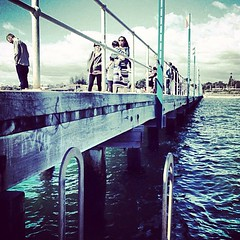 instagrammed (raqib) Tags: blue sea water mobile square pier squareformat rc iphone amaro shadesofblue frankstonpier raqib raqibchowdhury iphoneography instagram instagramapp uploaded:by=instagram instagrammed