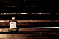 Empty Gin (frederic jon) Tags: nightphotography london westminster homeless alcohol gin riverthames embankment waterloobridge