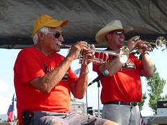 Malek's Fishremen Band, Performing at Forest City, Iowa (RV Bob) Tags: iowa maleksfishermenband band trumpet rv rally forestcityiowa forestcity gimp