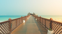 Beach by the Ocean.. (Robie..) Tags: jumereihbeachhotel ocean nikond750 boardwalk dubai dubaiincredible vacation 2016