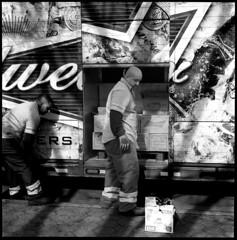 Budweiser (Revised) (Chris Protopapas) Tags: newyorkcity beer delivery budweiser truck sidewalk rolleiflex