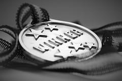 Macro Monday - Stars (vickireynolds2311) Tags: macro monday stars medal black white vignette macromondays