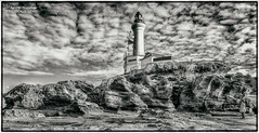 Lighthouse at Point Lonsdale (shivan) Tags: pointlonsdale lighthouse blackandwhite d7000 tokina1116mm