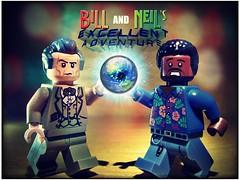 """Bill & Neil's Excellent Adventure"" (LegoKlyph) Tags: lego custom billnye thescienceguy neildegrassetyson science"
