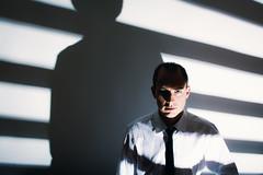 Shadows (justinlangston336) Tags: werehere wah shadowsonly shadows selfportrait blacktie whiteshirt