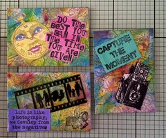 Quote (CraftyBev) Tags: atc brusho inka gold stamping aztec paints