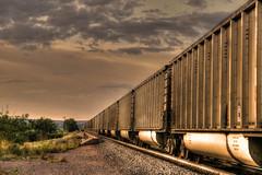 Adventures (miss.interpretations) Tags: railroad train travels adventures memories experiences happy tracks cars speed canonm3 mirrorless castlerock colorado sunset dusky