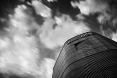 OIOI ([~Bryan~]) Tags: sku daytimelongexposure longexposure ndfilter cloudmovement lookup sky oioi osaka bw blackandwhite weather city urban bryanleung time