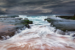Ocean Fury (Brian Bornstein) Tags: leefilters waves beach ocean turimettabeach water nsw brianbornstein rocks sunrise seascape sydney canon6d turimetta clouds