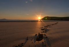 Tramore Beach Dunfanaghy (Pearse Mac) Tags: ireland beach sun rays footprints sand light colour color donegal wild atlantic way wildatlanticway beauty beautiful
