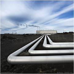 High Tech Landscape (channel packet) Tags: iceland power energy pipes electricity davidhill
