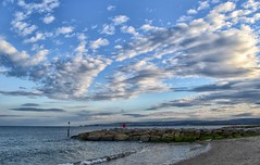 Skies Above The Beach (Tilney Gardner) Tags: clouds sandbanks poole dorset nikon beach
