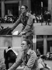 [La Mia Citt][Pedala] (Urca) Tags: 89115 milano italia 2016 bicicletta pedalare ciclicsta ritrattostradale portrait bike bicyclenikondigitale mir biancoenero bn bw blackandwhite