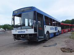 TM Travel 116 Looms June 2016 (Guy Arab UF) Tags: tm travel 116 l116lra volvo b10b northern counties paladin looms scrapyard derby derbyshire unibus wellglade trent barton buses