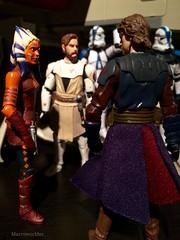 Jedi generals Ashoka Tano, Obi-Wan Kenobi & Anakin Skywalker come up with a plan (Macroworlder) Tags: starwars hasbro disney clonewars clones clone trooper republic gunship starfighter ashoka tano snips anakin skywalker obiwan kenobi jedi