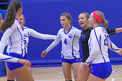 IMG_1351 (SJH Foto) Tags: girls volleyball high school pleasant valley pa pennsylvania team tween teen teenager varsity tournament huddle cheer