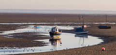 Boats in the early morning light (cathbooton) Tags: earlybird outdoor coast sea transport sunshine sunday september canon6d canonusers canoneos wirral light morning reflection beach water boat