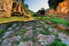 Adventure (Rickydavid) Tags: cavodeglizucchi viaamerina necropoli basolato tombs tombe