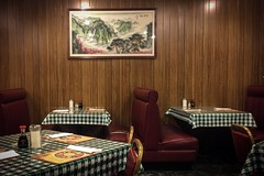 (266/366) Chinese Restaurant (CarusoPhoto) Tags: chinese restaurant john caruso carusophoto photo day project 365 366 oak park il illinois tables chairs booth art panelling retro vintage old school back iphone 6 plus banal mundane ordinary everyday