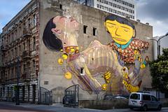 Lodz-2 (Alex Ignatov) Tags: europe lodz poland architecture building graffiti streetart streetphotography lodzvoivodeship pl
