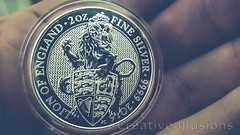 2016 Queen's Beast Lion of England (JokerMan45678) Tags: 999 queens beast lion england coin silver ag bullion stack stacker stacking wealth silverporn