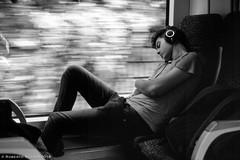 Sweet dreams (ralcains) Tags: sterreich austria wien viena vienna train tren blackwhite bw blancoynegro schwarzweis monochrome monocromo monochromatic monocromatico analog analogue analogica qumica streetphotograhy adox scala slide diapositiva diapo 50mm fdlens canonf1 canonfd