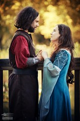 Moment of Silence (Snowgrimm) Tags: cosplay lordoftherings elf love autumn costume together