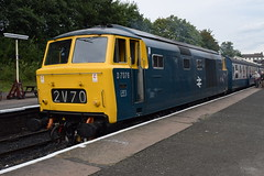 D7076 at Bury (colin9007) Tags: east lancashire railway diesel gala wr hydraulic maybach beyer peacock class 35 hymek d7076