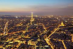 Paris la Nuit (PLF Photographie) Tags: paris montparnasse tour panorama nuit pose longue long exposure city urban lights lumires monuments eiffe linvalides arc de triomphe
