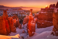Bryce Canyon Sunrise (Chip Phillips) Tags: winter usa snow southwest hammer sunrise utah canyon hoodoo bryce hoodoos thors thepowerofnow