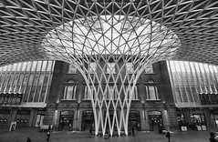 Kings Cross Station London in B&W (Craig Pitchers) Tags: england london nikon europe britain 1024 unitedkingdon d7000 nikond7000 nikon1024mm