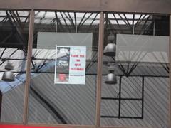 ROM McDonald's Closed to Prep the Site for Exhibit Condo January 11 2013 (Meteor54) Tags: toronto reflection sign construction closed demolition exhibit mcdonalds condo rom bloor condominium royalontariomuseum goldenarches oldsign storeclosure bloorstreet storeclosed