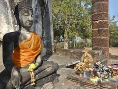Junior Buddha (mikecogh) Tags: history robe buddhism temples wat saffron sukhothai offerings historicalpark watsaphanhin