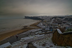 In the bleak mid winter. (paul downing) Tags: winter snow cold nikon northsea saltburnbythesea coastaluk pd1001 d7000 pauldowning pauldowningphotography