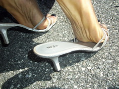 My soles - Outside (hyellow) Tags: feet foot sandals flip flops soles wrinkled